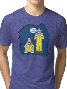 BREAKING BAD & WALLACE AND GROMIT MASHUP Tri-blend T-Shirt