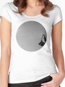 Seagull on lantern Women's Fitted Scoop T-Shirt
