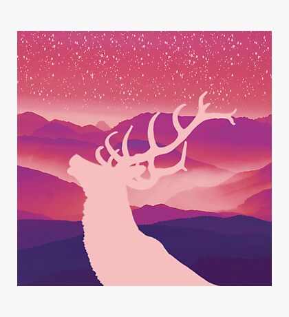 Oh Deer Purple Hills Photographic Print