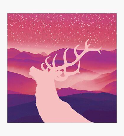 Oh Deer Purple Hills Photographic Print
