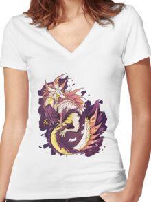 MONSTER HUNTER - Tamamitsune - Women's Fitted V-Neck T-Shirt