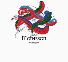 Clan Matheson - Prefer your gift on Black/White tell us at info@tangledtartan.com  Unisex T-Shirt