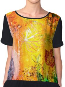 Nature...Layered with Texture Chiffon Top