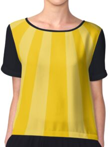 Abstract yellow sun stripes Chiffon Top