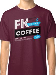 Deadly Premonition - FK In The Coffee Official Tee (White / Blue) Classic T-Shirt
