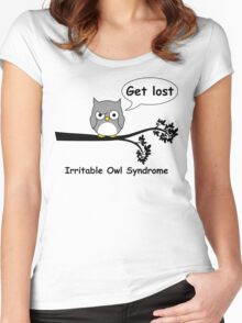 Irritable Owl syndrome Women's Fitted Scoop T-Shirt