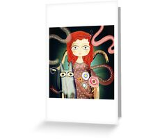 No spoken words, just a scream. Greeting Card