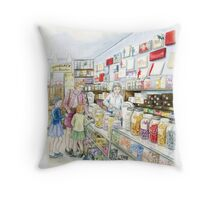 Lolly shop Candy Store Sweet shop Throw Pillow