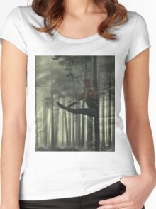 Dancer - Forest Women's Fitted Scoop T-Shirt
