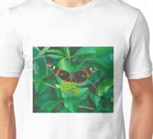 red admiral - green eyes Unisex T-Shirt
