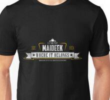 Let me put Maideek where it belongs (alt color) Unisex T-Shirt