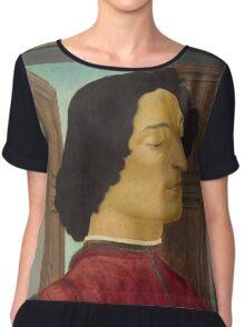 Botticelli  - Giuliano de  Medici  1478 - 1480 Italian  Elegant Man Portrait Fashion  Chiffon Top