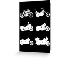History of Harley Davidson Greeting Card
