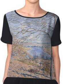 Alfred Sisley - Banks of the Loing - Autumn Effect Impressionism  Landscape  Chiffon Top