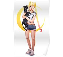 Usagi and Luna Poster