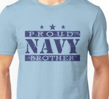 Proud Navy Brother Distressed Unisex T-Shirt