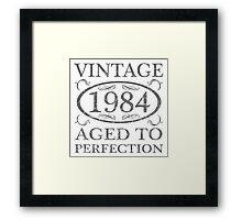Vintage 1984 Birth Year Framed Print