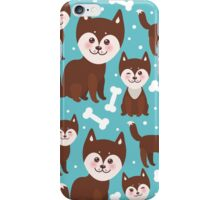 Happy husky puppy iPhone Case/Skin