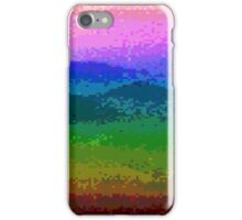 Pixelated Rainbow Mountain iPhone Case/Skin