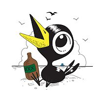 Drinky Crow! Dook Dook Dook! by alexhefe
