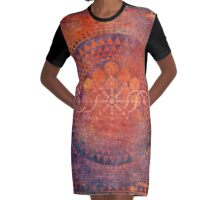 Desert Crop Circle Graphic T-Shirt Dress