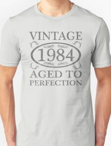 Vintage 1984 Birth Year Unisex T-Shirt