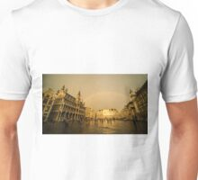 Rainbow over Le Grand Place  Unisex T-Shirt