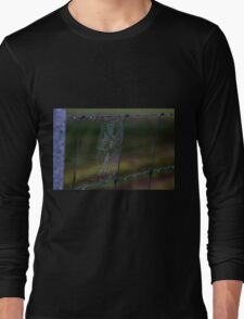 Fence Web in the Morning Dew Long Sleeve T-Shirt