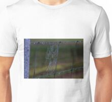 Fence Web in the Morning Dew Unisex T-Shirt