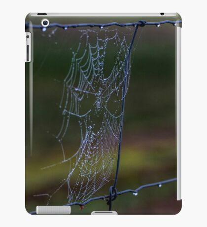 Fence Web in the Morning Dew iPad Case/Skin
