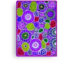 """""""PURPLE HAZE"""" Colorful Abstract Colorful Print Canvas Print"""