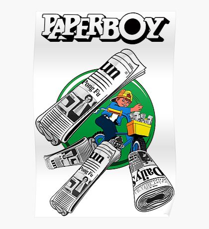 PAPERBOY RETRO ARCADE GAME Poster