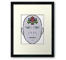 Floral Voldemort Framed Print