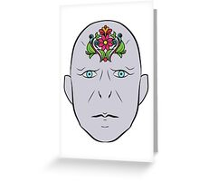Floral Voldemort Greeting Card