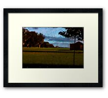 Looking Through the Web Framed Print