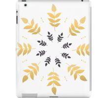Beautiful leaves Mandala in Golden Scandinavian / Nordic Style iPad Case/Skin