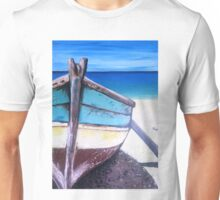 Beached bliss boat Unisex T-Shirt