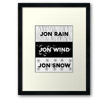 Rain, wind, snow... Framed Print