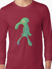 squidward bold and brash Long Sleeve T-Shirt