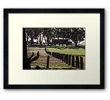 Sunrise Fenceline Framed Print