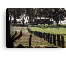 Sunrise Fenceline Canvas Print