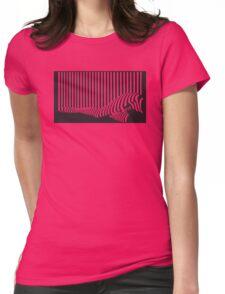 Bar code Womens Fitted T-Shirt