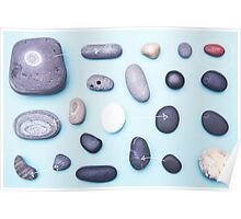 Paired pebbles... Poster