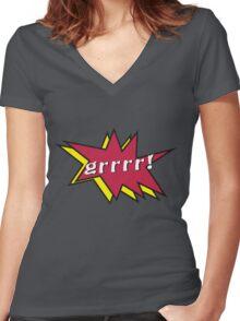 Grrr comic Women's Fitted V-Neck T-Shirt