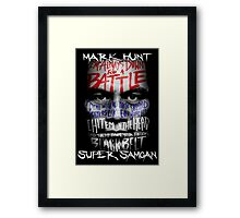 Mark Hunt Framed Print
