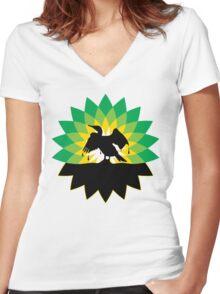 Bird Petroleum Women's Fitted V-Neck T-Shirt