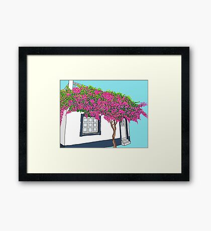A little house in Portugal Framed Print