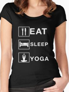 eat sleep yoga Women's Fitted Scoop T-Shirt