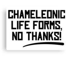 Chameleonic life forms - Light Canvas Print