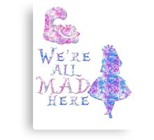 Pink and purple all mad Canvas Print